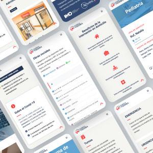 diseño web clinica viedma
